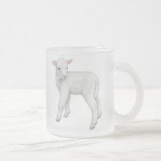 Young Lamb Frosted Glass Mug