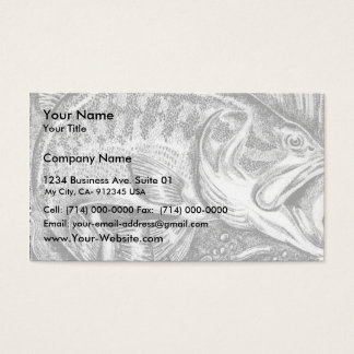 Young Largemouth Bass Business Card