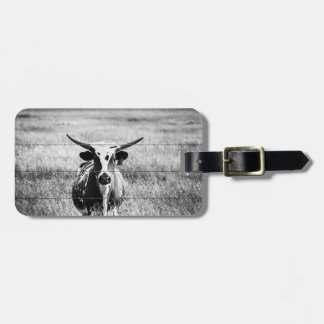 Young Longhorn Luggage Tag