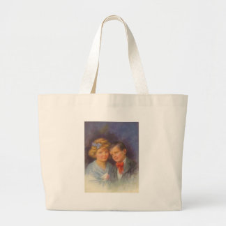 Young Love, Vintage Girl & Boy Valentine Portrait Bag