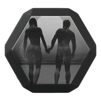 Young lovers by moonlight black bluetooth speaker