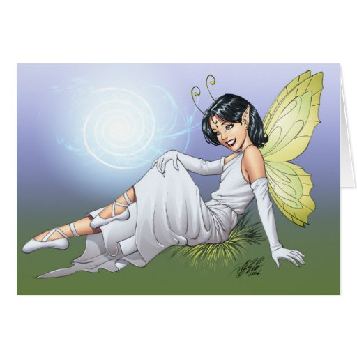 Young Magical Elf Fairy by Al Rio Cards
