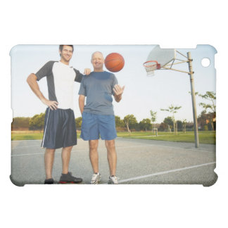 Young man and senior man on outdoor basketball iPad mini case