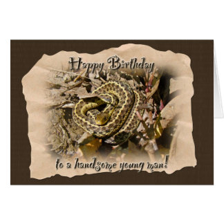 Young Man Birthday - Eastern Garter Snake Card