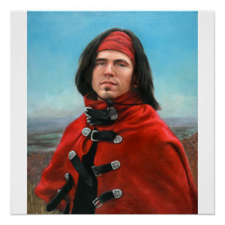Young Man in a Red Cape by Julia Morgan Scott Poster