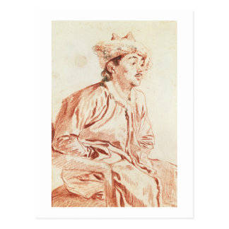 Young Man in Oriental Costume (drawing) Postcard