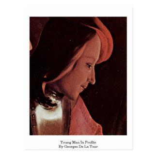 Young Man In Profile By Georges De La Tour Postcard