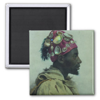 Young Man in Profile (Profil aux coquillages) Magnet