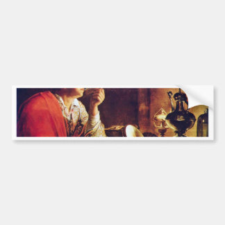 Young Man With Pipe By Gobin Michel Bumper Stickers