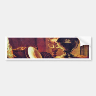 Young Man With Pipe Detail By Gobin Michel Bumper Sticker