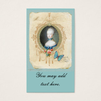 Young Marie Antoinette Business Cards