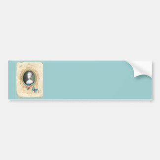 Young Marie Antoinette Butterfly Art Print Bumper Sticker