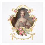 "Young Marie Antoinette Invitation Cards 5.25"" Square Invitation Card"