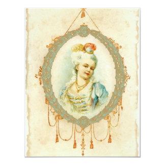 Young Marie Antoinette Portrait Invitations