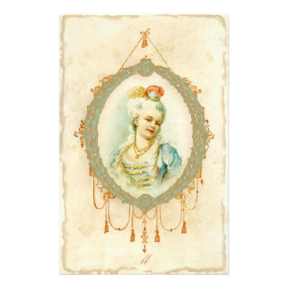 Young Marie Antoinette Portrait Stationery Paper