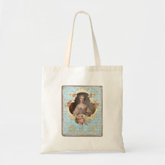 Young Marie Antoinette with Pink Roses Budget Tote Bag