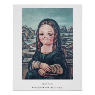 'Young Mona' Poster by Tales From The Trash