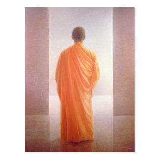Young Monk back view Vietnam Postcard