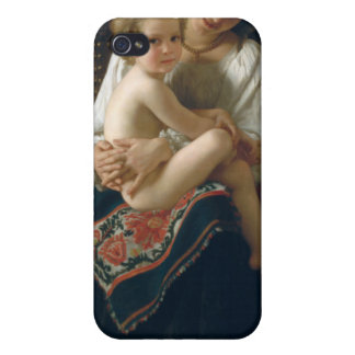 Young Mother Gazing at Her Child - Bouguereau iPhone 4 Covers