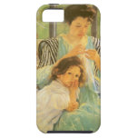 Young Mother Sewing by Mary Cassatt iPhone 5 Covers