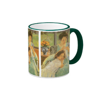 Young Mother Sewing by Mary Cassatt, Vintage Art Ringer Mug