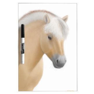 Young Norwegian Fjord Horse Dry Erase Board