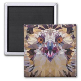 Young Osprey Bird of Prey Polygon Fill Animal Art Magnet