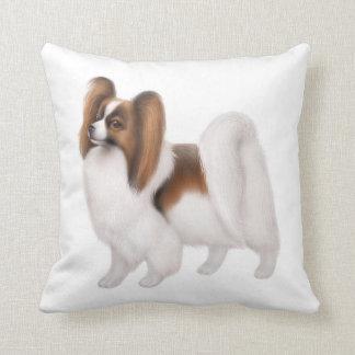 Young Papillon Dog Pillow
