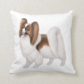 Young Papillon Dog Pillow Cushions
