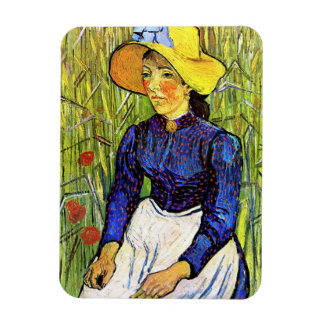 Young Peasant Girl by Vincent van Gogh 1890 Flexible Magnet