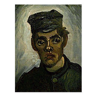 Young Peasant in Peaked Cap(F165)Van Gogh Fine Art Postcard