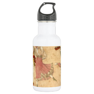 Young People Dancing and Singing, vintage drawing 532 Ml Water Bottle