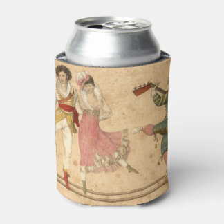 Young People Dancing and Singing, vintage drawing Can Cooler