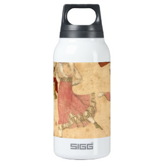 Young People Dancing and Singing, vintage drawing Insulated Water Bottle