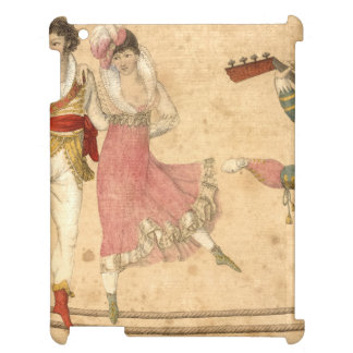 Young People Dancing and Singing, vintage drawing iPad Covers