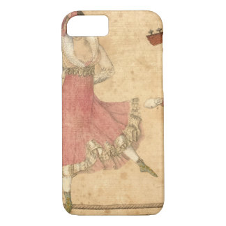 Young People Dancing and Singing, vintage drawing iPhone 8/7 Case