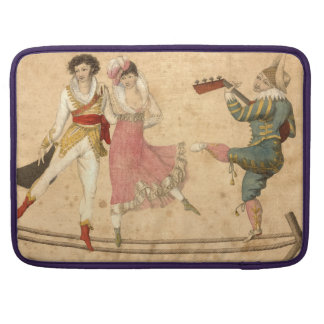 Young People Dancing and Singing, vintage drawing Sleeve For MacBook Pro