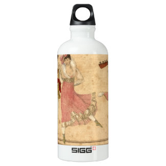 Young People Dancing and Singing, vintage drawing Water Bottle