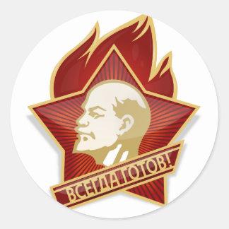 Young Pioneers Lenin Ленин Communist Soviet Union Classic Round Sticker