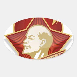 Young Pioneers Lenin Ленин Communist Soviet Union Oval Sticker