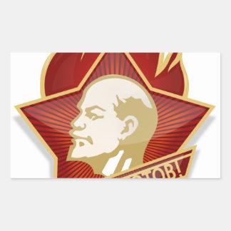 Young Pioneers Lenin Ленин Communist Soviet Union Rectangular Sticker