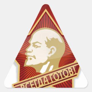 Young Pioneers Lenin Ленин Communist Soviet Union Triangle Sticker