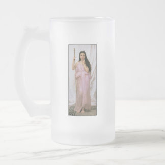 Young Priestess, Adolphe William Bouguereau Frosted Glass Beer Mug
