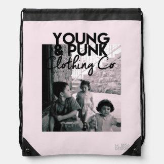 YOUNG&PUNK's Radtastic [Lo]Go-Bag Drawstring Bag