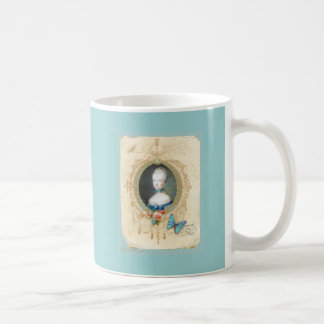 Young Queen Marie Antoinette n Butterfly Print Mug
