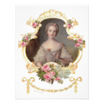 Young Queen Marie Antoinette Pink Roses Cards Invite