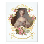 Young Queen Marie Antoinette Pink Roses Cards 11cm X 14cm Invitation Card