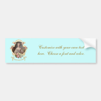 Young Queen Marie Antoinette Roses Bumper Stickers