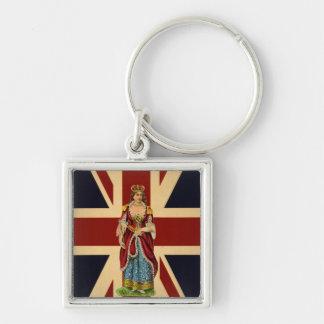 Young Queen Victoria British Scrap piece design Key Chains