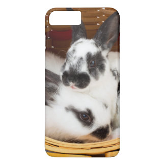 Young Rex rabbits in Easter basket 2 iPhone 7 Plus Case